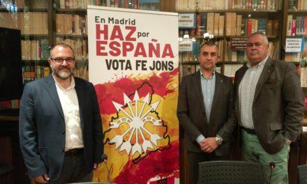 EN DIRECTO: ARRANQUE DE LA CAMPAÑA ELECTORAL DE FE-JONS A LA ASAMBLEA DE MADRID