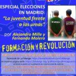 """Nuevo Viernes Cultural de La Falange con la conferencia """"Especial Elecciones en Madrid – La juventud frente a las urnas"""" por Alejandro Mille y Fernando Molero"""