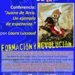 """Nuevo Viernes Cultural de La Falange con la conferencia """"Juana de Arco. Un ejemplo de esperanza"""" por Laura Lussaud"""