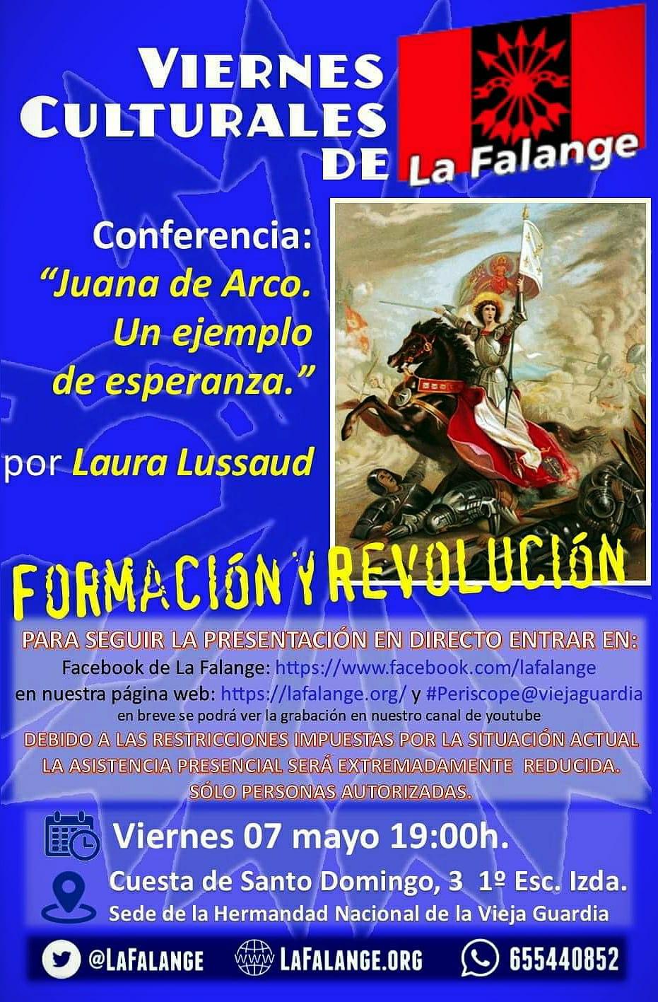 """Conferencia """"Juana de Arco. Un ejemplo de esperanza"""" por Laura Lussaud"""