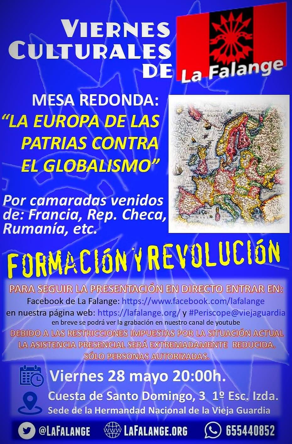 """Mesa Redonda: """"La Europa de las patrias contra el globalismo""""."""