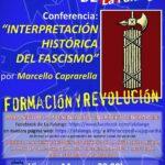 """Nuevo Viernes Cultural de La Falange con la conferencia """"Interpretación histórica del fascismo"""" a cargo de Marcello Caprarella"""