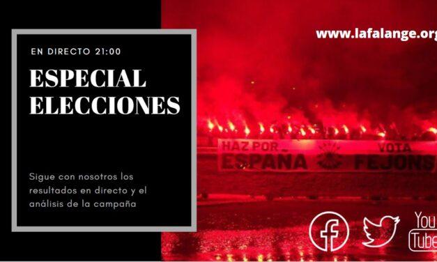 EN DIRECTO: ESPECIAL ELECCIONES. RESULTADOS AL MINUTO Y ANÁLISIS DE CAMPAÑA.