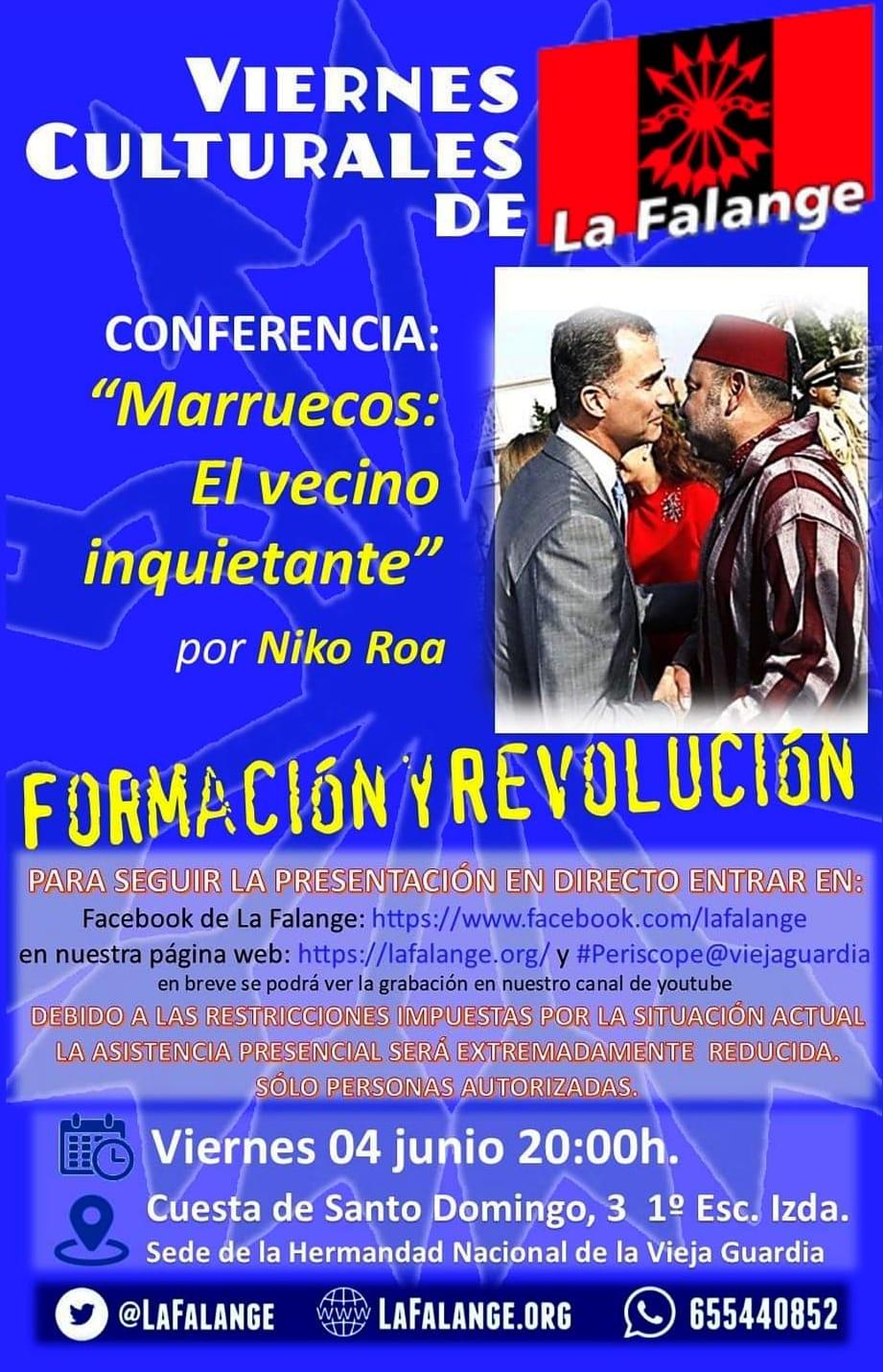 """Conferencia """"Marruecos, el vecino inquietante"""" a cargo de Niko Roa"""