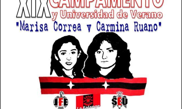 """XIX Campamento y universidad de verano de La Falange """"Marisa Correa y Carmina Ruano"""""""