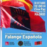 Acto por el LXXXVIII aniversario de la fundación de FALANGE ESPAÑOLA